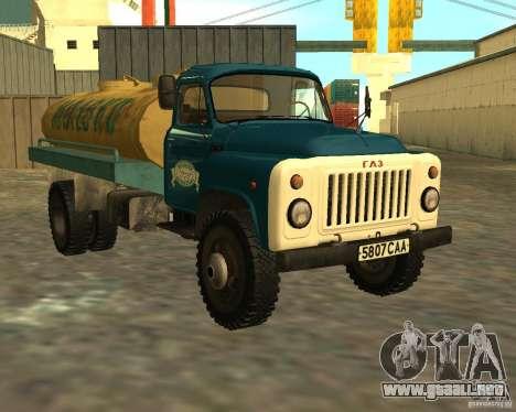 CAMIÓN GAZ 53-12-3 para GTA San Andreas