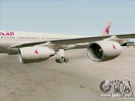 Airbus A-340-600 Quatar para GTA San Andreas vista hacia atrás