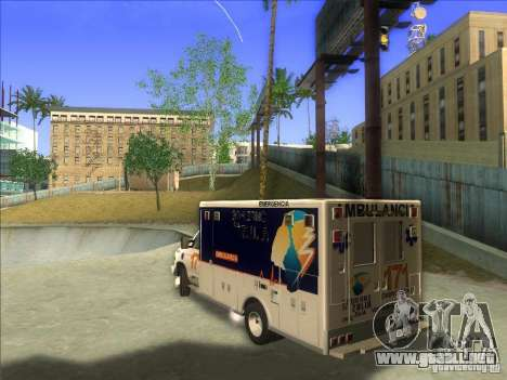 Ford E-350 Ambulance para GTA San Andreas left