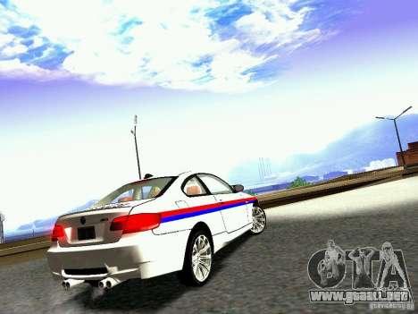 BMW M3 MotoGP SafetyCar para la visión correcta GTA San Andreas