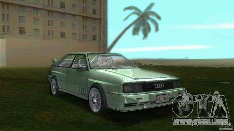 Audi Quattro para GTA Vice City