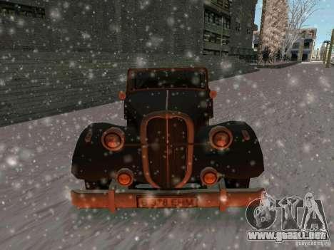 Auto sabotaje juego para GTA San Andreas vista hacia atrás