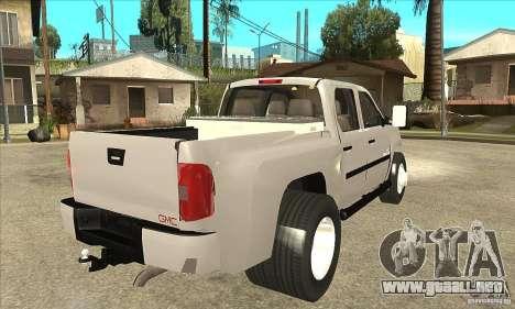 GMC 3500 HD Sierra Duramax Diesel 2010 para la visión correcta GTA San Andreas