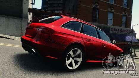 Audi RS4 Avant 2013 v2.0 para GTA 4 vista interior
