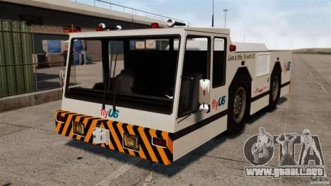 FlyUS Tugs Pack para GTA 4 Vista posterior izquierda