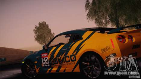Nissan GTR Black Edition para vista lateral GTA San Andreas
