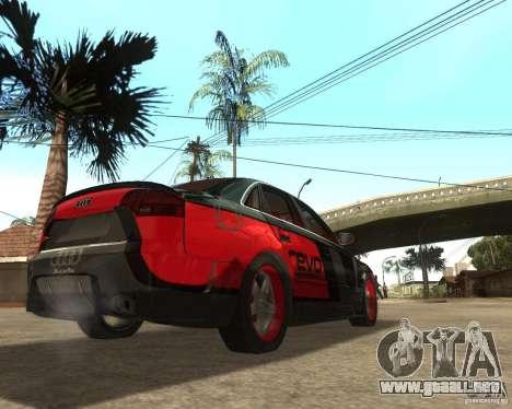 Audi RS4 Grip para la visión correcta GTA San Andreas