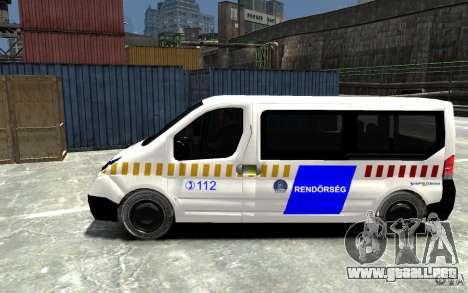 Opel Vivaro Hungarian Police Van para GTA 4 left