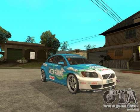 VOLVO C30 STCC para la visión correcta GTA San Andreas