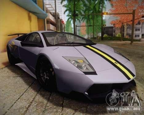 Lamborghini Murcielago LP 670/4 SV Fixed Version para GTA San Andreas vista hacia atrás