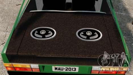 Volkswagen Gol GL 1992 Edit para GTA 4 vista lateral