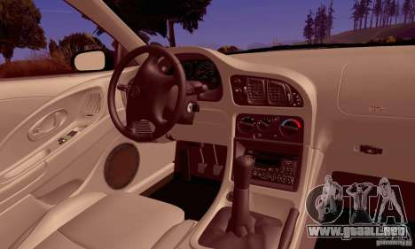Eagle Talon TSi AWD 1998 para vista lateral GTA San Andreas