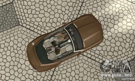 Chevrolet Camaro Concept 2007 para GTA San Andreas vista hacia atrás
