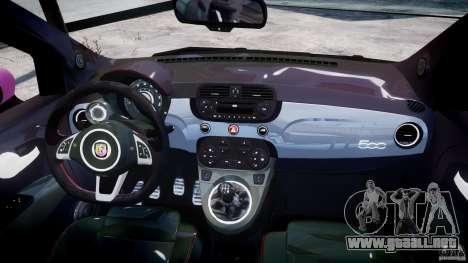 Fiat 500 Abarth SS para GTA 4 Vista posterior izquierda