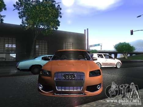 Audi S3 para GTA San Andreas vista posterior izquierda