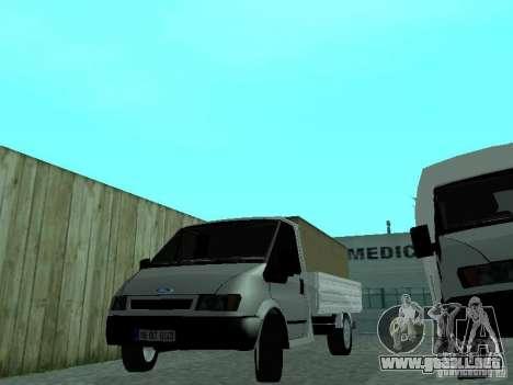 Ford Transit 2005 para GTA San Andreas vista posterior izquierda