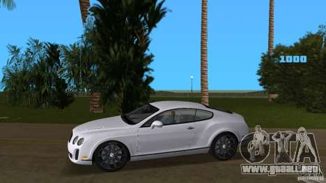 Bentley Continental Supersport para GTA Vice City left