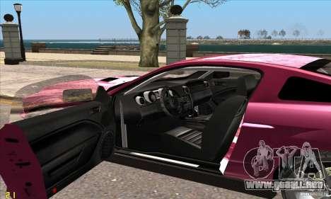 Ford Shelby GT500KR Super Snake para GTA San Andreas vista posterior izquierda