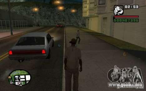 Tirar de los transeúntes por basura para GTA San Andreas tercera pantalla