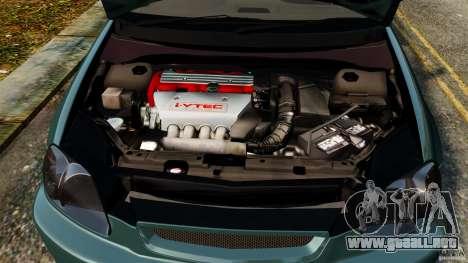 Honda Civic Type R (EK9) para GTA 4 vista lateral