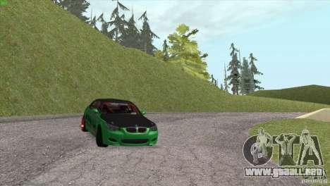 BMW M5 E60 Darius Balys para la vista superior GTA San Andreas