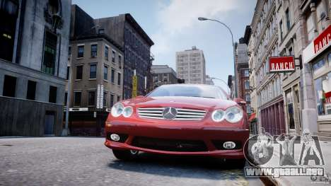 Mercedes-Benz CLK 63 AMG 2005 para GTA 4 interior