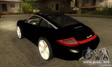Porsche 911 Targa 4 para GTA San Andreas vista posterior izquierda