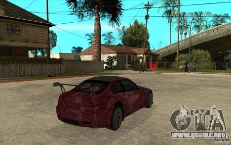 BMW M3 2009 para la visión correcta GTA San Andreas
