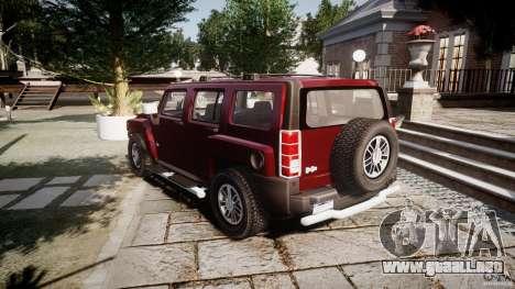 Hummer H3 para GTA 4 vista lateral