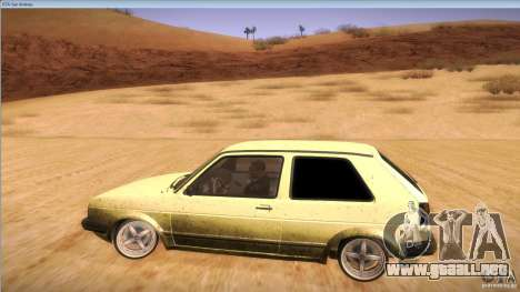 Volkswagen Golf MK II para visión interna GTA San Andreas