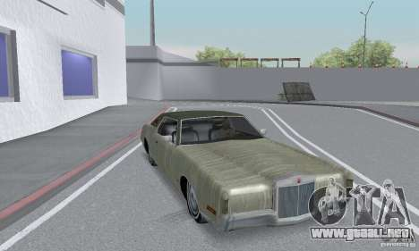 Lincoln Continental Mark IV 1972 para la vista superior GTA San Andreas
