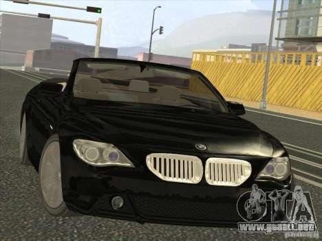 BMW 650I para GTA San Andreas vista hacia atrás