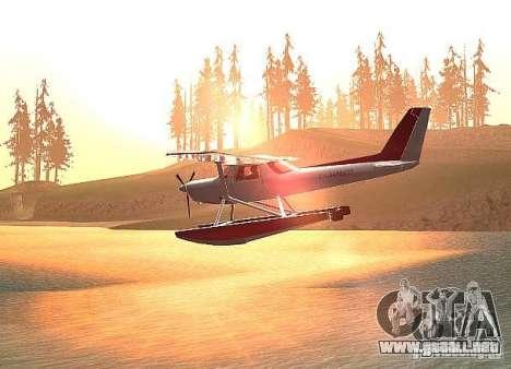 Cessna 152 opción del agua para GTA San Andreas left