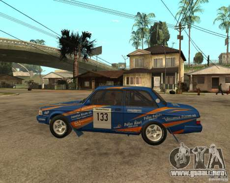 Volvo 242 Lightspeed Rally Edition para GTA San Andreas left