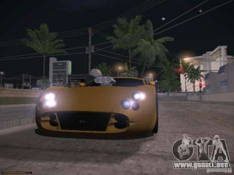 TVR Cerbera Speed 12 para la vista superior GTA San Andreas