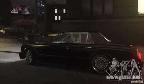 Bentley Arnage T v 2.0 para GTA 4 vista hacia atrás