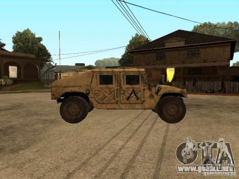 War Hummer H1 para GTA San Andreas left