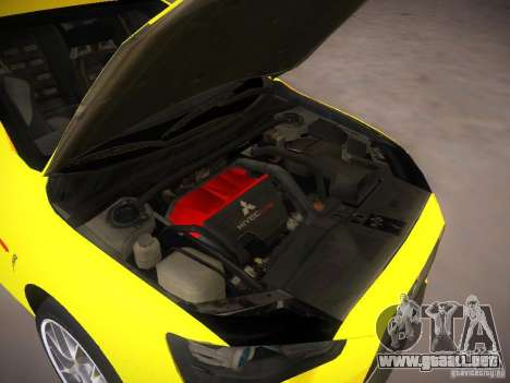 Mitsubishi Lancer Evo X Tunable para GTA San Andreas vista hacia atrás