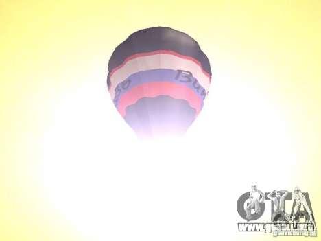 Globo Vityaz para GTA San Andreas vista hacia atrás