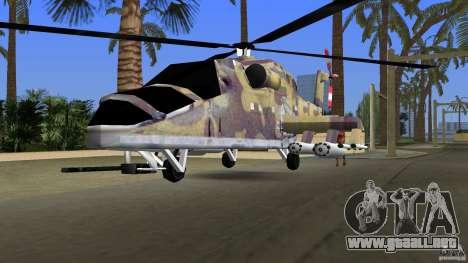 Mi-24 HindB para GTA Vice City vista posterior