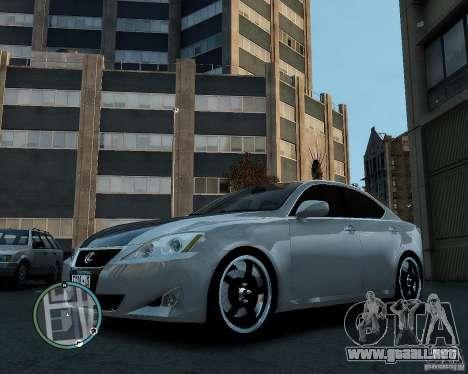 Lexus IS350 2006 v.1.0 para GTA 4 visión correcta