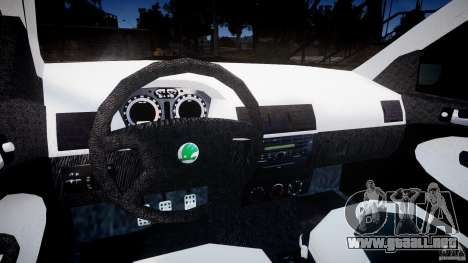 Skoda Fabia v1.0 para GTA 4 vista hacia atrás