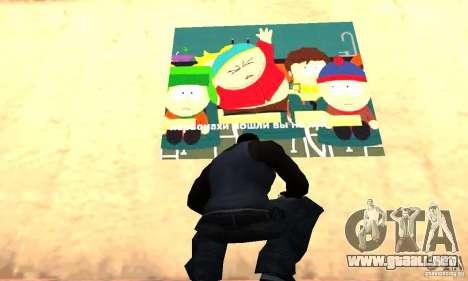South Park Grafitti Mod para GTA San Andreas