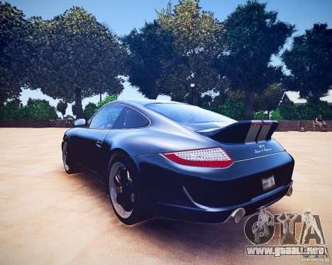 Porsche 911 Sport Classic 2011 v2.0 para GTA 4 vista hacia atrás