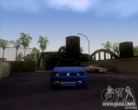 Volkswagen Golf GTi 2003 para GTA San Andreas vista posterior izquierda