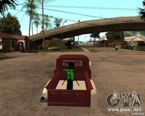 ZIL 130 Tempe ardiente Final para GTA San Andreas vista posterior izquierda