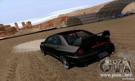 Mitsubishi Lancer EVO VIII BlackDevil para GTA San Andreas left