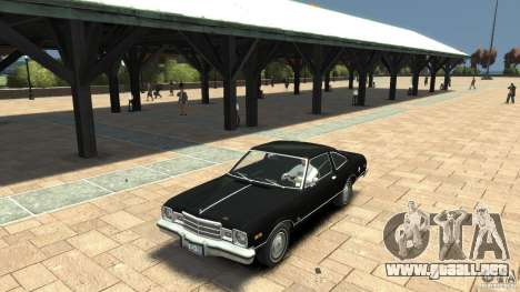 Plymouth Volare Coupe 1977 para GTA 4 vista interior