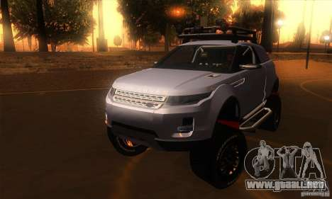 Land Rover Evoque para GTA San Andreas