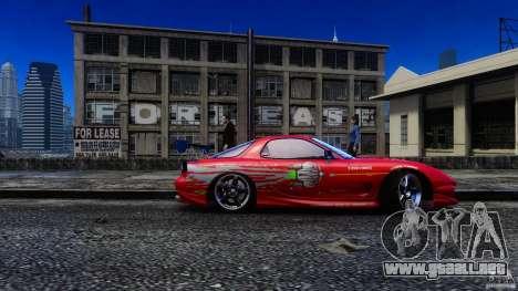 Mazda RX-7 FnF para GTA 4 Vista posterior izquierda